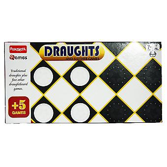 Funskool Draughts And 5 Other Games