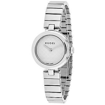 Gucci Ya141502 Diamantissima White Dial Stainless Steel Ladies Watch
