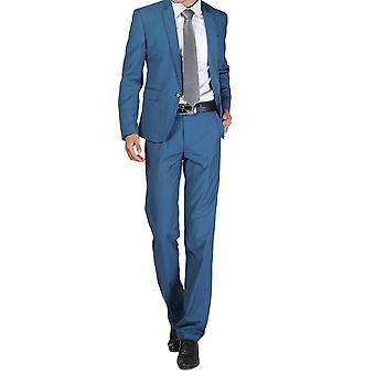 Allthemen mężczyźni 2szt Silm Fit Solid 2 kawałki garnitur (Blazer & spodnie)