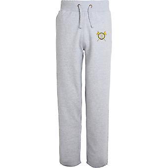 5th Royal Irish Lancers - Licensed British Army Embroidered Open Hem Sweatpants / Jogging Bottoms