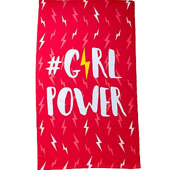 Microfiber bath Towel, Girl Power