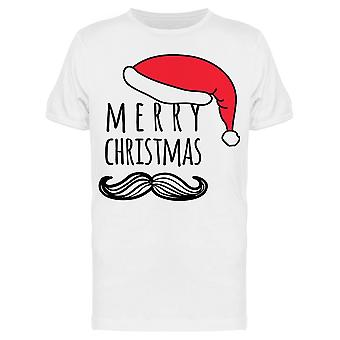Merry Christmas Mustache Tee Men's -Image by Shutterstock