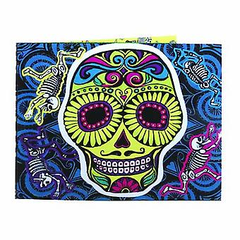 Wallet - UPG - Day of the Dead Skull w/Sound Talk New Licensed Gifts Toys 3318