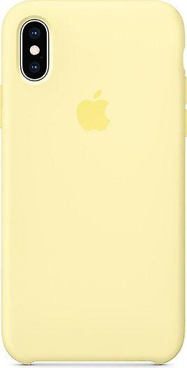 Including original packaging Apple silicone Micro Fiber cover case for iPhone XS - yellow