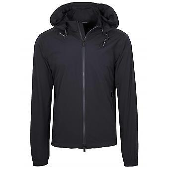 Z Zegna Navy Hooded Windbreaker Jacket