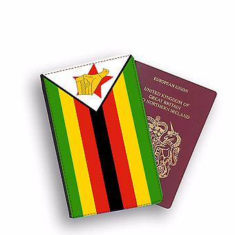 ZIMBAWE Flag Passport Holder Style Case Cover Protective Wallet Flags design