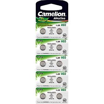 Camelion AG0 Button cell LR 63 Alkali-manganese 10 mAh 1.5 V 10 pc(s)