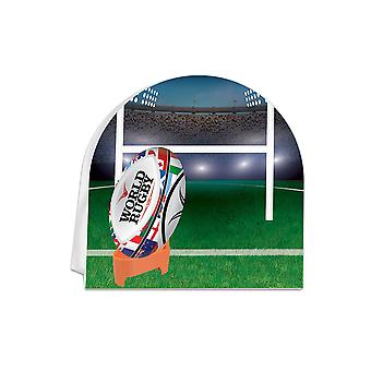Rugby 3D Centerpiece