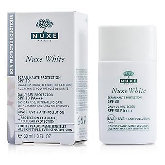 Nuxe White Daily Uv Protector Spf 30 (for All Skin Types & Sensitive Skin) - 30ml/1oz