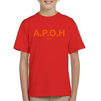 A. P. O. H Classic orange logo kid ' s T-shirt