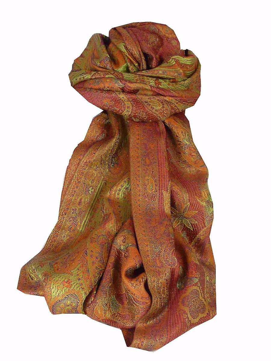 Mens Jamawar Premium Silk Scarf Pattern 6849 by Pashmina & Silk
