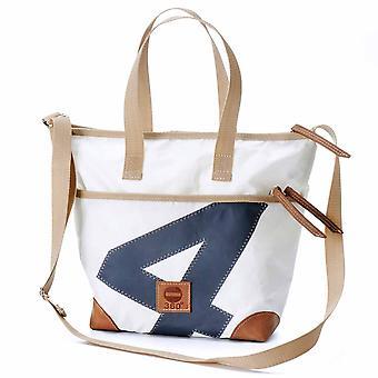 360 degrees canvas bag number grey mini Deern, belts, beige handbag 15432