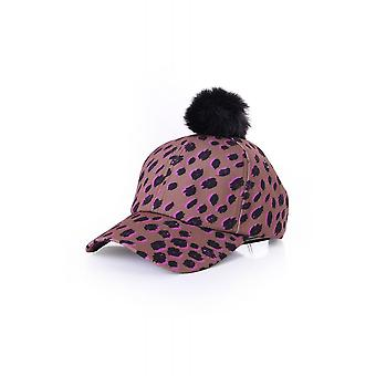 Paul Smith Womens Womens Cap In Leopard Print With Pom