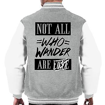 Divide & Conquer Not All Who Wander Are Lost Men's Varsity Jacket