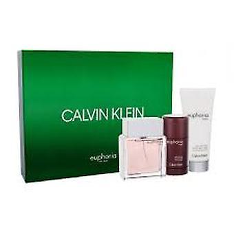 Calvin Klein Euphoria Zestaw prezentów 100ml EDT + 100ml Balsam poszaleniu + 75ml Dezodorant Stick