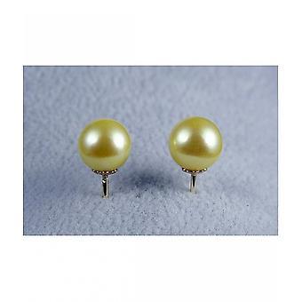 Luna-parels Akoya Pearl Stud naad met geel goud O50