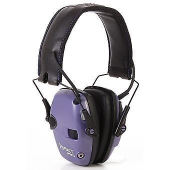 Howard Leight Impact Sport Sound Amp. Electronic Earmuff, Purple #R-02522