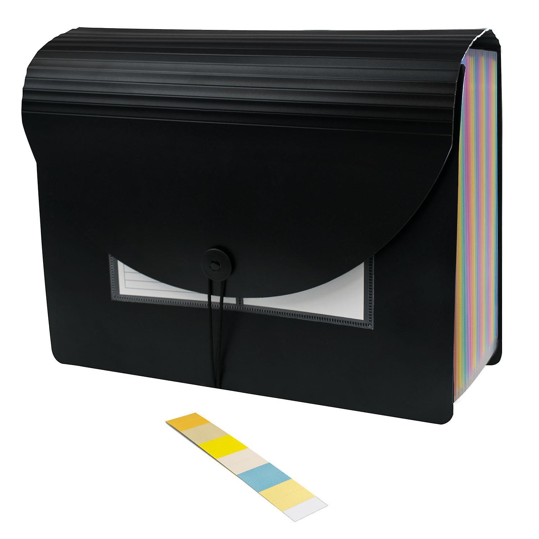 TRIXES Expanding File Organiser 25 Compartment -Storage for Offices Desks