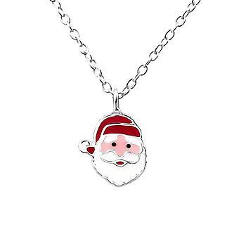 Dzieci's Sterling Srebrny Naszyjnik Świętego Mikołaja