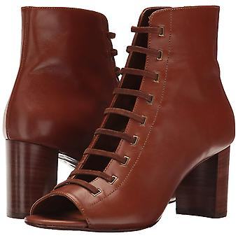 Aquatalia Women's Stefania Calf/Suede Ankle Boot, Cognac, 9.5 M US