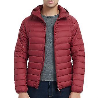Allthemen Men's Solid Thin Warm Hooded Gepolsterte Jacke 4 Farben