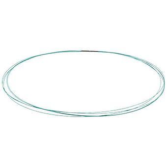 Ti2 Titanium Multi Strand Stainless Steel Necklace - Light Blue