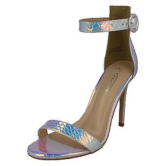 Ladies spot på høj hæl sandaler F10915