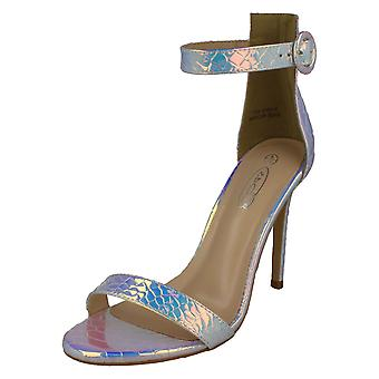 Senhoras Spot On High Heel Sandálias F10915