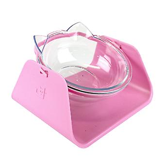 Food bowl for cat, 15° angle - Pink