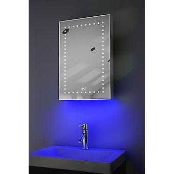Ceas Cabinet cu LED-uri sub iluminat, Demister, Senzor & Rask383w