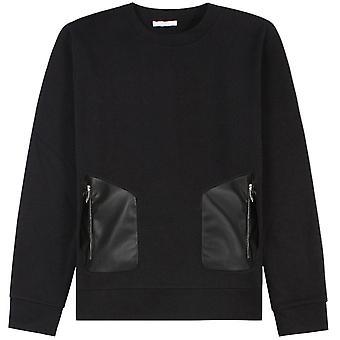 Versace Coleção couro Zip Pocket Sweatshirt