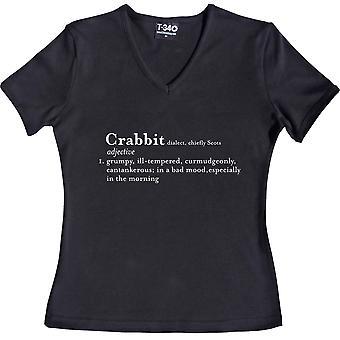 Crabbit Definition V-Ausschnitt schwarz Frauen's T-Shirt