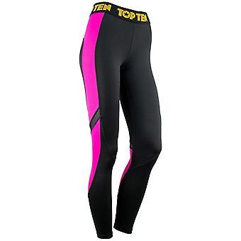 Top Ten Ladies Fitness Leggings Noir/Rose