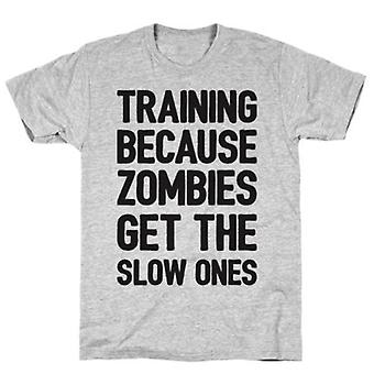 Training because zombies get the grey t-shirt