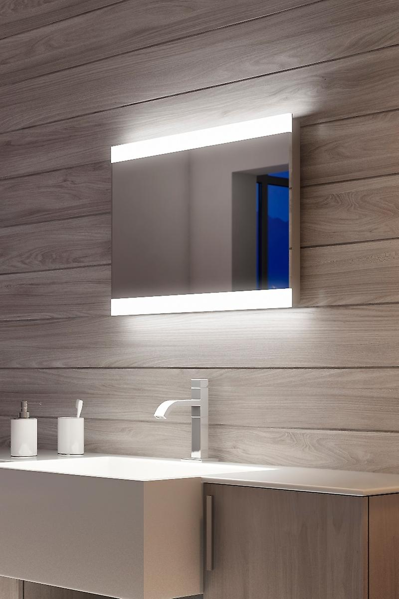 Reef Double Edge Bathroom Mirror with Shaver socket k51h