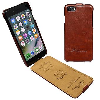 For iPhone SE(2020), 8 & 7  Case,Fashion Stylish Vertical Flip Protective Leather Cover,Brown