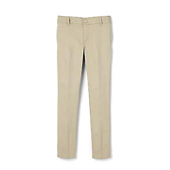 French Toast Girls' Big Stretch Twill Skinny Leg Pant, Khaki, 18