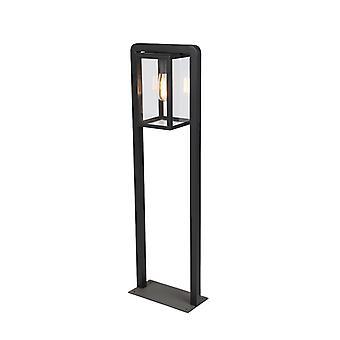 QAZQA Modern Square Floor Lamp Black - Rotterdam Balanco