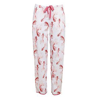 Cyberjammies 4431 Women's Darcie Ivory Off White Fish Print Cotton Pyjama Pant