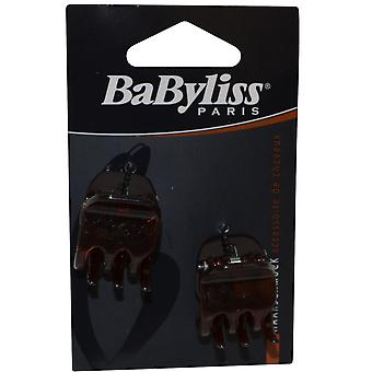 Garra de BaByliss clipes Pack de 2 marrom