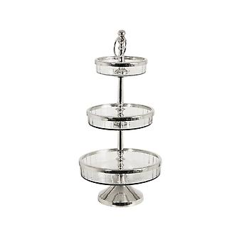 Light & Living Etagere 3 Layers 26x52.5cm Mandal Nickel-Glas