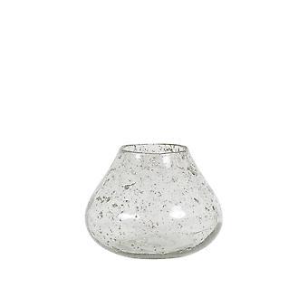 ضوء والمعيشة زهرية 19x14cm هاسوري الزجاج الحجر الانتهاء واضحة