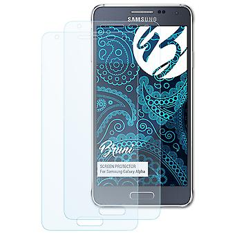 Bruni 2x Screen Protector compatible with Samsung Galaxy Alpha Protective Film