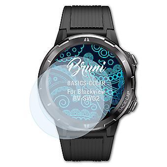 Bruni 2x Screen Protector compatibel met Blackview BV-SW02 Beschermfolie