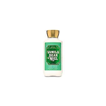 (2 Pacote) Bath & Body Works Vanilla Bean Noel Super Smooth Body Lotion 8 fl oz / 236 ml