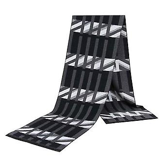 Black & grey geo pattern luxury viscose bamboo scarf