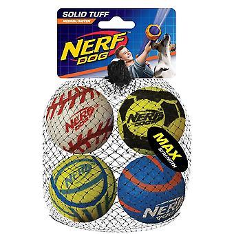 Nerf Dog Mega Strength 2.5inch Sports Balls (4pk)