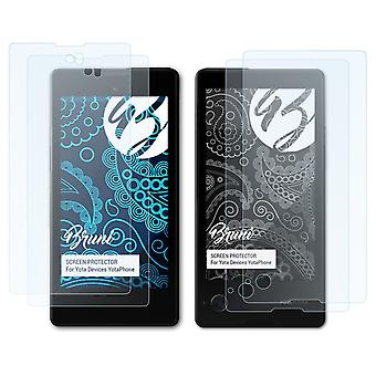 Bruni 2x Schutzfolie kompatibel mit Yota Devices YotaPhone Folie