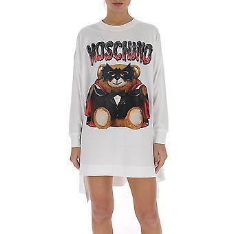 Moschino 04580540v1001 Women's White Cotton Dress
