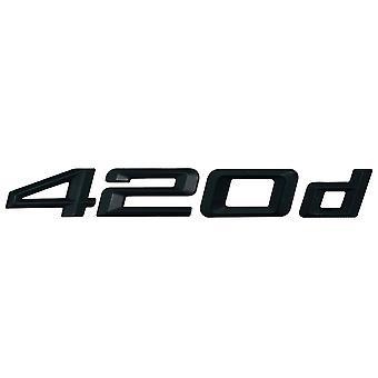 Matt Black BMW 420d Car Model Rear Boot Number Letter Sticker Decal Badge Emblem For 4 Series F32 F33 F36 G22 G23 G26